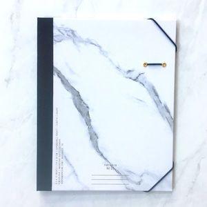 DesignWorks Ink Pocket Folder NWT Marble